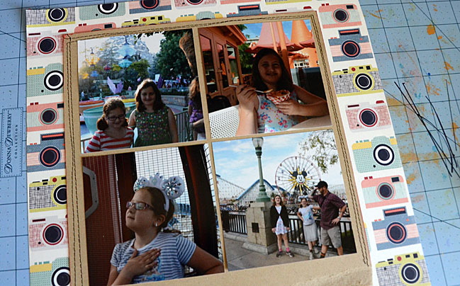scrap your favourite theme park // scrapbook page by May Flaum