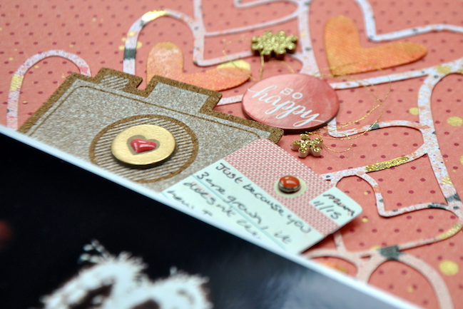 scrapping night time photos // scrapbook page by Sheena Rowlands
