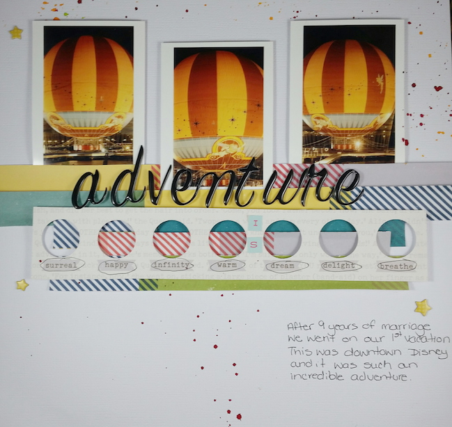 weekly challenge: take inspiration from an autumnal page // scrapbook page by Tiffani  Nelson