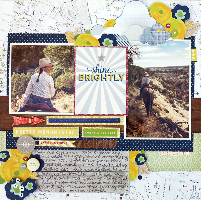 an outdoor travel colour story // scrapbook page by Helen De Ram