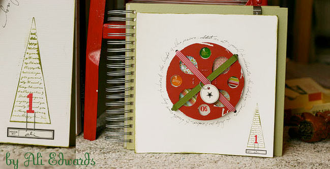 christmas art journal by Ali