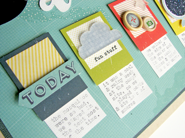 Scrapbook with a BIG Title // scrapbook page by Nicole Nowosad