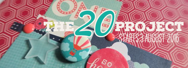 The 20 Project: online scrapbooking class from Shimelle Laine