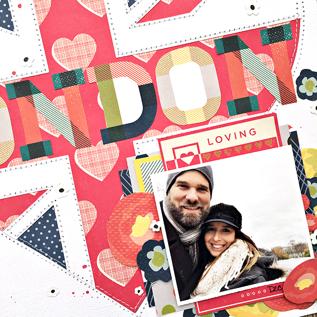 weekly challenge: go big with red // scrapbook page by Heather Leopard