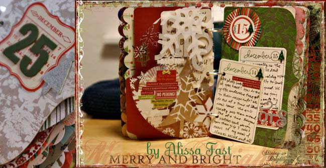 christmas scrapbook by Alissa