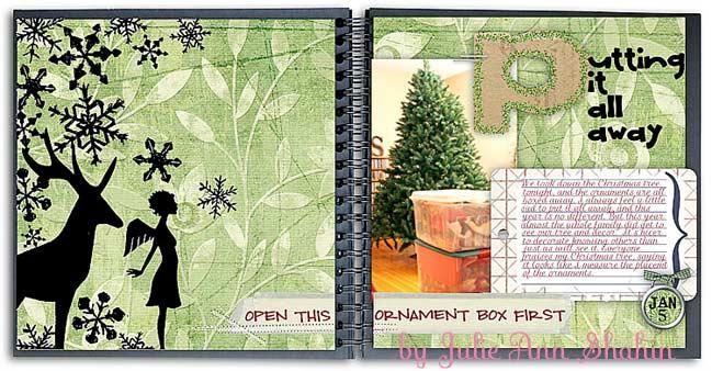digital christmas scrapbook by Julie Ann