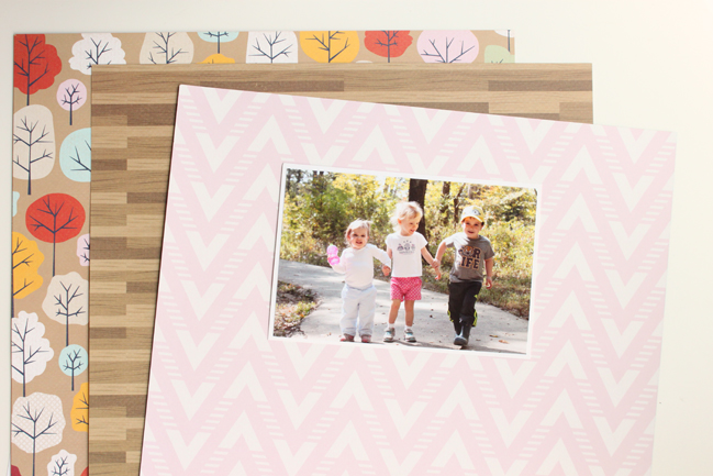 Scrapbook a nature walk with Go Now Go // scrapbook page by Meghann Andrew