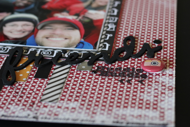 weekly challenge: paint the edge of the page // scrapbook page by Jeanna Cata