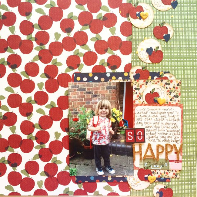 Back to School scrapbook ideas // scrapbook page by Shimelle Laine