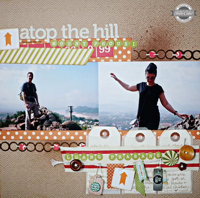 Weekly Challenge :: Take Inspiration from a Travel Scrapbook Page // scrapbook page by Shimelle Laine