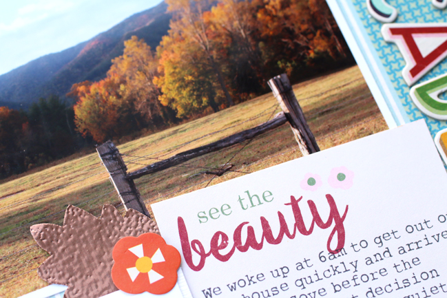 Scrapbooking Autumn // scrapbook page by Meghann Andrew
