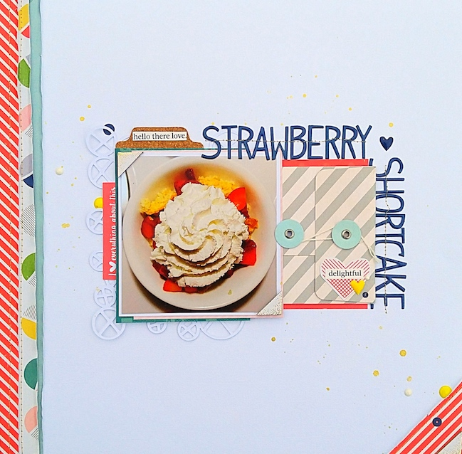 scrapbook with an envelope // scrapbook page by Sarah King