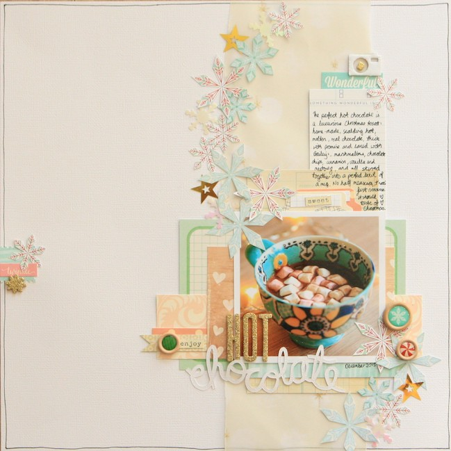 scrapbooking coffee  // scrapbook page by Kirsty Smith