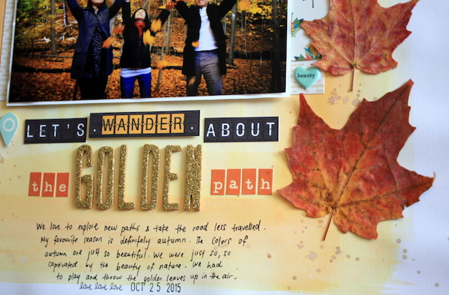 an autumn colour story // scrapbook page by Karen Lai