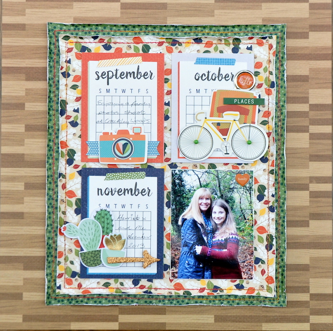use a random embellishment // scrapbook page by Sheena Rowlands