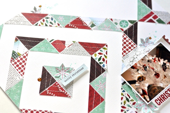 Christmas Magic scrapbook page by Leigh Ann Odynski