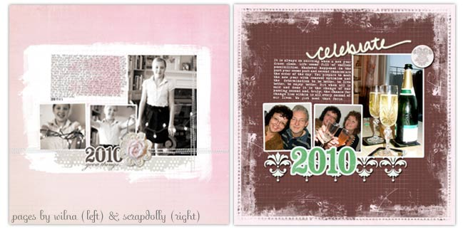 digital scrapbook pages