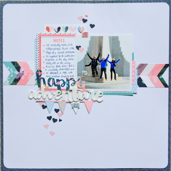 Getting started with Little by Little // scrapbook page by Kirsty Smith