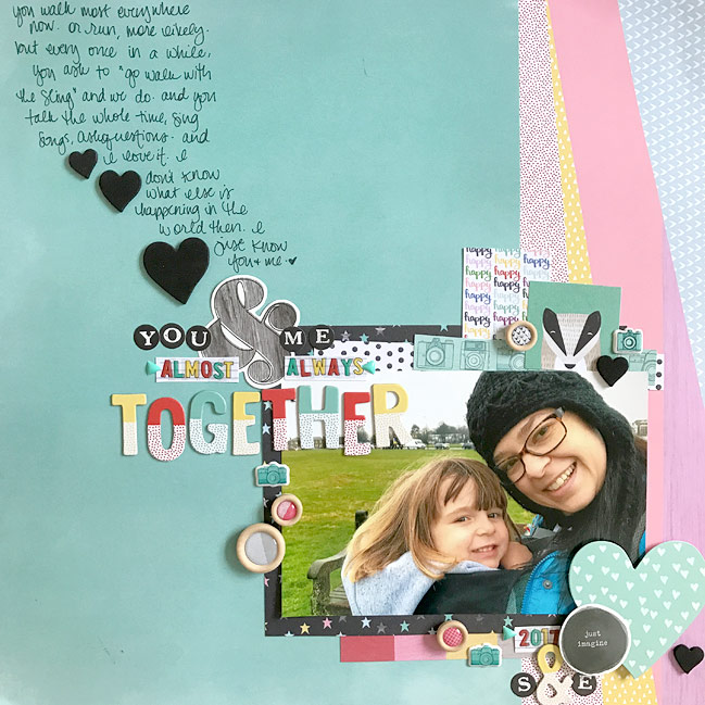Scrapbooking with B-Sides // Scrapbook Page by Shimelle Laine