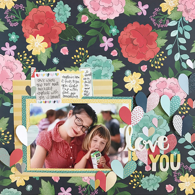 Exploding Heart Page Design :: Scrapbook Page by Shimelle Laine