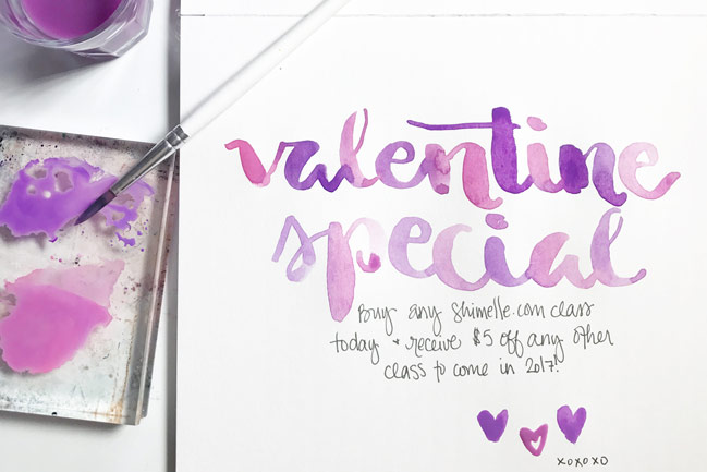 Valentine's Day Special on Online Classes from Shimelle Laine
