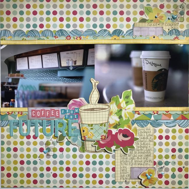 Scrapbooking with Stamps - Glitter Girl video 150 - scrapbook page by Shimelle Laine
