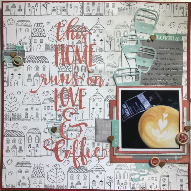 scrapbooking coffee // scrapbook page by Shimelle Laine