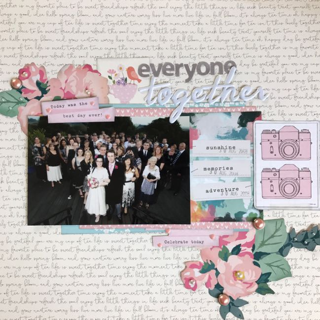 Scrapbooking group photos // scrapbook page and Glitter Girl video by Shimelle Laine