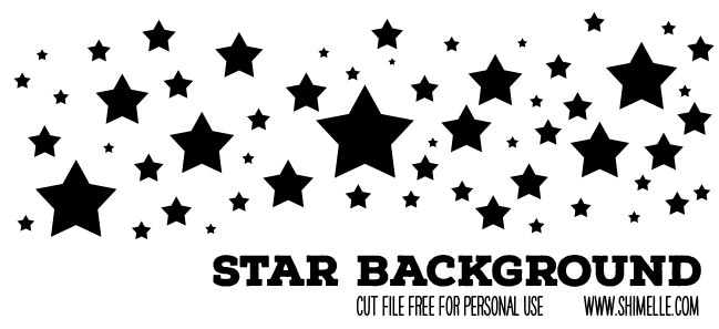 Star background cut file - free for personal use