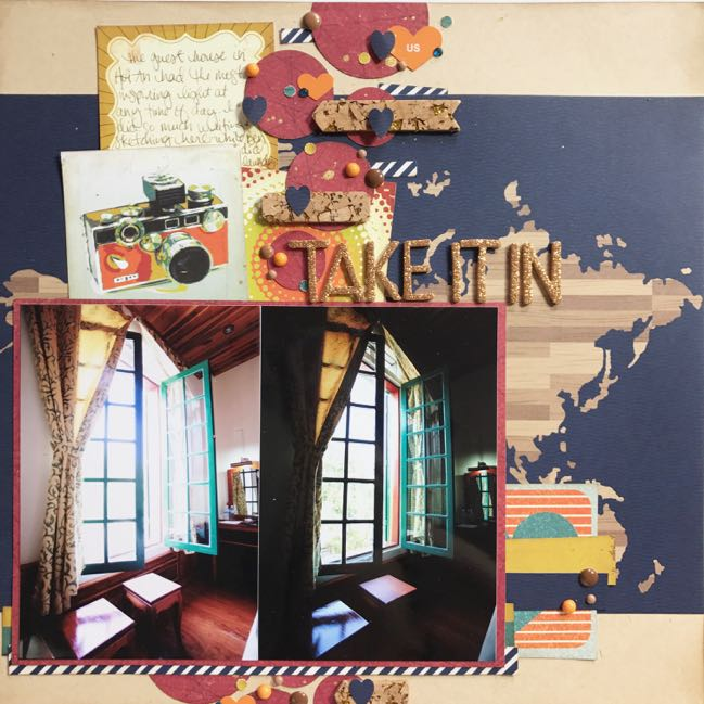 travel scrapbook page by Shimelle Laine