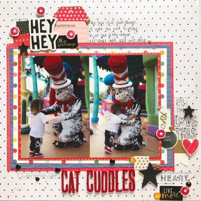 Cat in the Hat Universal Studios scrapbook page by Shimelle Laine
