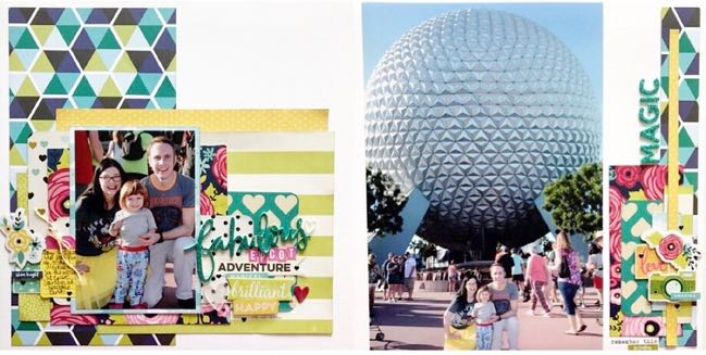 Epcot scrapbook page by Shimelle Laine
