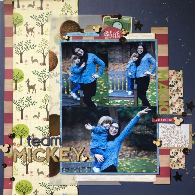 Scrapbook page made with the Shimelle Sticker Book