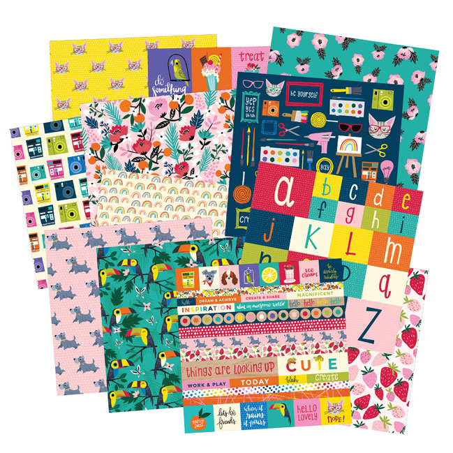Box of Crayons paper crafting collection from Shimelle and American Crafts
