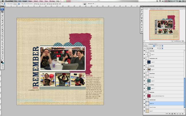 digital scrapbooking template tutorial