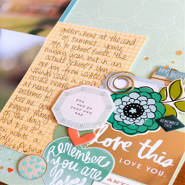 Behind the Scenes scrapbooking class from Shimelle Laine