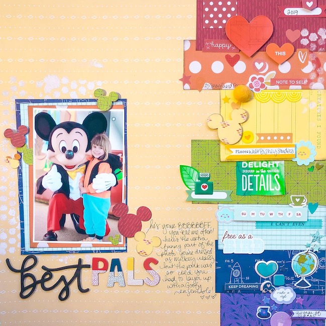 #scrapbookrainbows Rainbow Scrapbooking Page by Shimelle