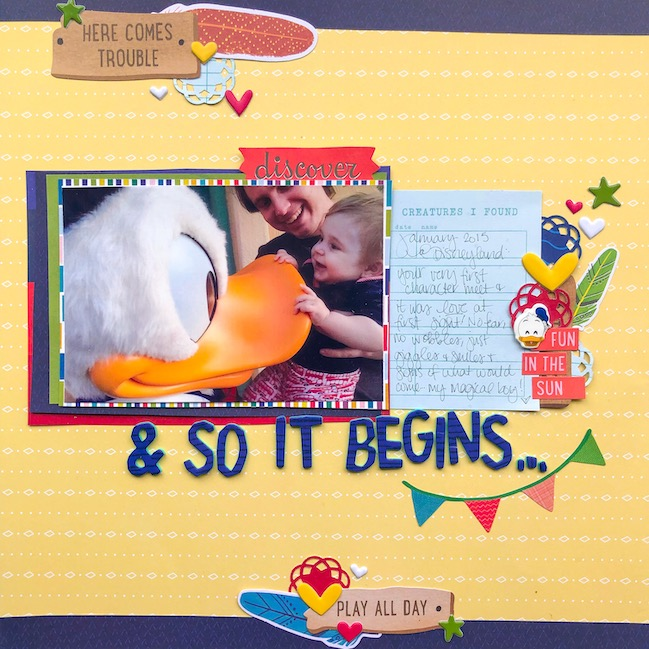 Disney Scrapbooking Page by Shimelle, inspired by Victoria Marie Scraps