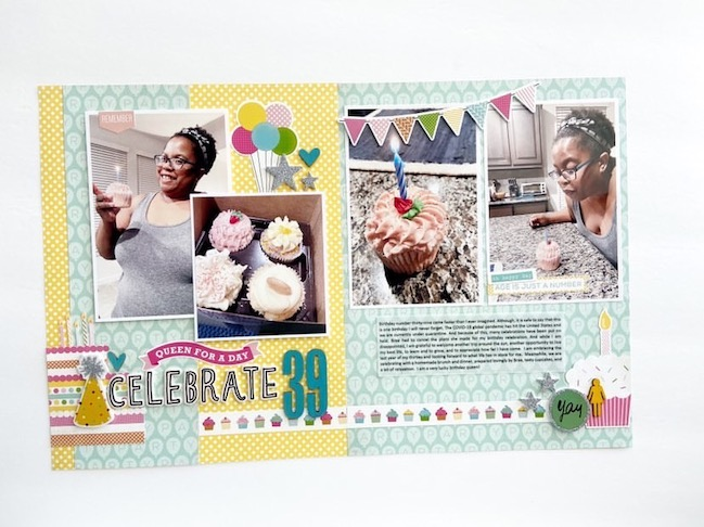 scrapbook page by Victoria Marie Scraps