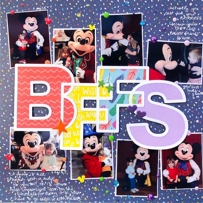 BFFs scrapbook page by Shimelle with Paige Evans cut file