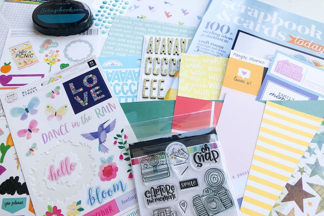 Best of Both Worlds Scrapbooking Kit from Shimelle // August 2020