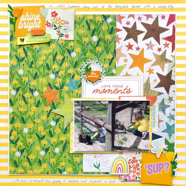 scrapbook page by Shimelle with Best of Both Worlds Scrapbooking Kit - August 2020