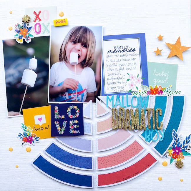 Scrapbook Page by Shimelle with Best of Both Worlds Kit August 2020