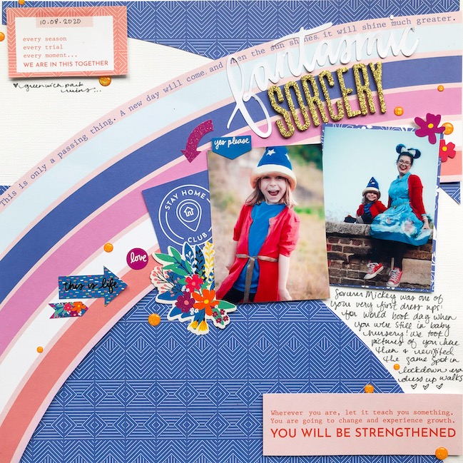 Scrapbook page by Shimelle with Best of Both Worlds kit - August 2020