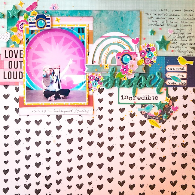 scrapbook page by Shimelle - Best of Both Worlds Scrapbooking Kit - January 2021