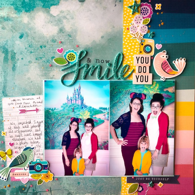 scrapbook page by Shimelle - Best of Both Worlds scrapbooking kit January 2021