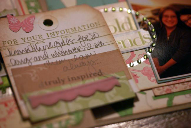journaling on scrapbook page