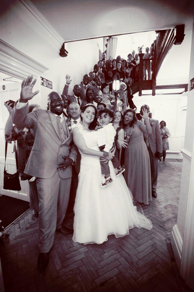 edwards wedding - london, uk - group shot