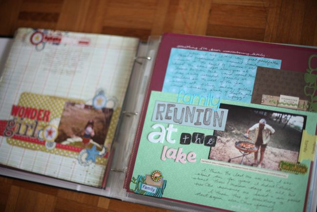 scrapbook organisation :: early years album