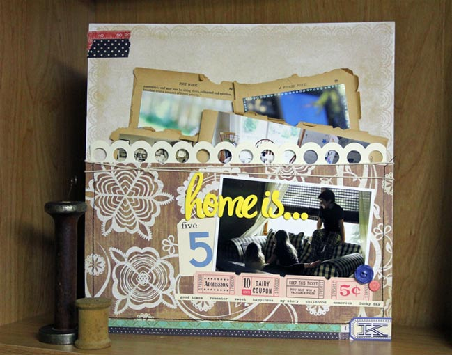 scrapbook page :: 4x6 photo love